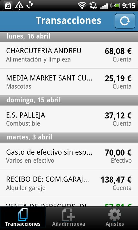 Wallo Finanzas Personales- screenshot