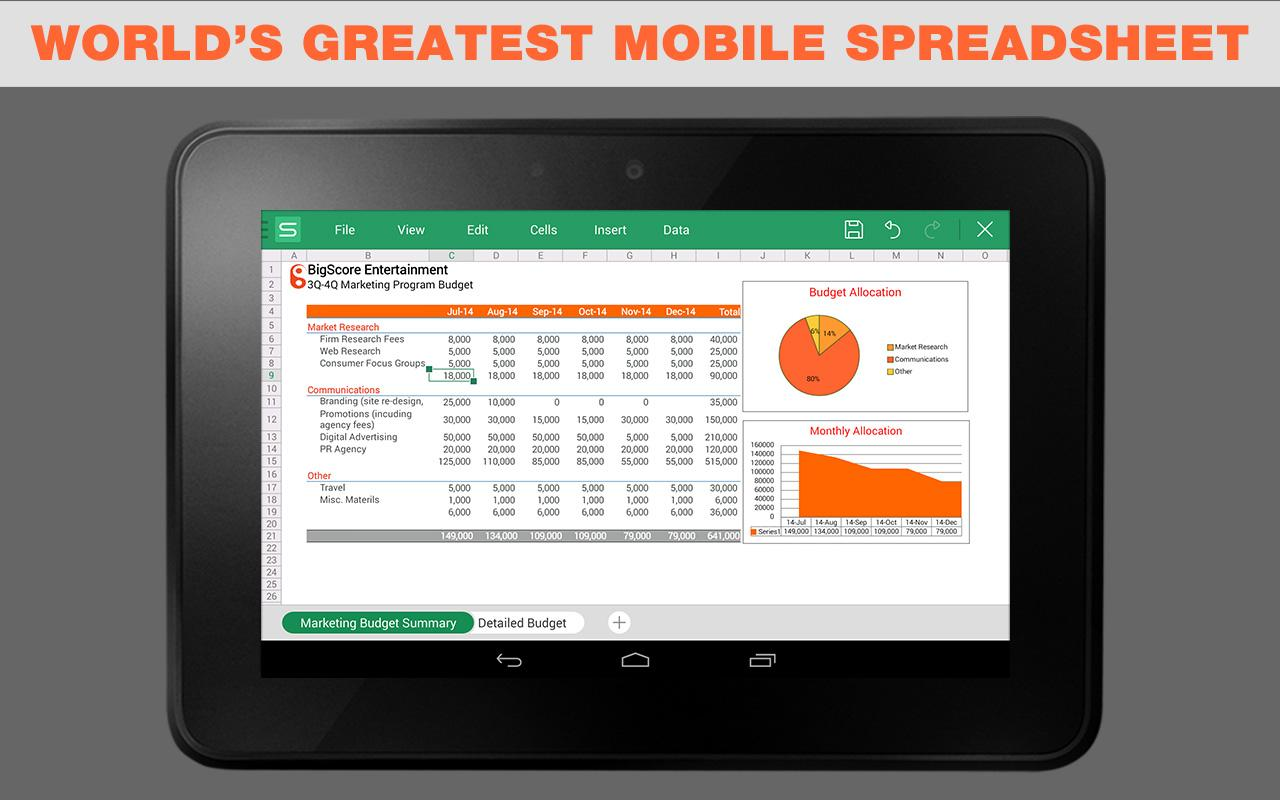 Wps 1 free mobile office app screenshot - Office apps for android free ...