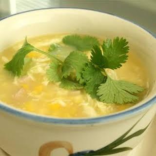 Velvety Chicken Corn Soup.