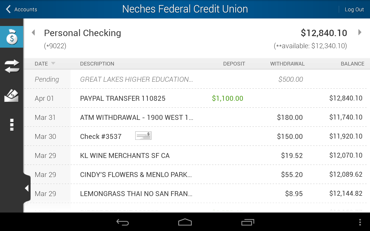 Neches FCU - screenshot