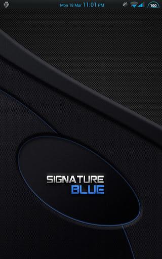 Signature Blue Theme CM AOKP