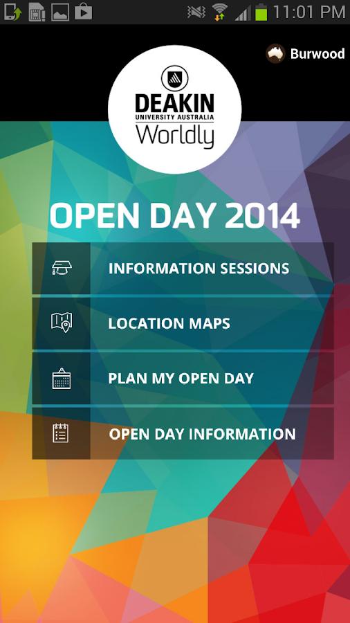 Deakin Open Day - screenshot