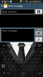 Gentleman Black Suit Keyboard - screenshot thumbnail