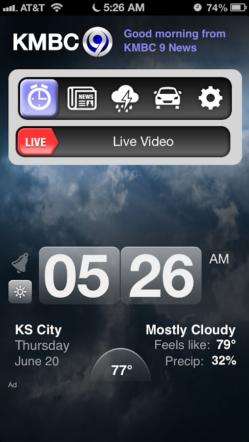 Alarm Clock KMBC 9 News - screenshot