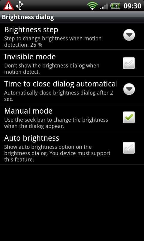 Brightness Motion Lite - screenshot