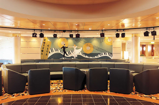 MSC-Opera-Cotton-Club - The Cotton Club bar and show lounge aboard MSC Opera features dancing, music and live events.