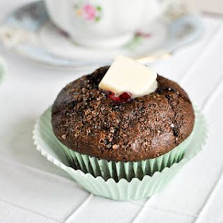 Dark Chocolate Blueberry Muffins.