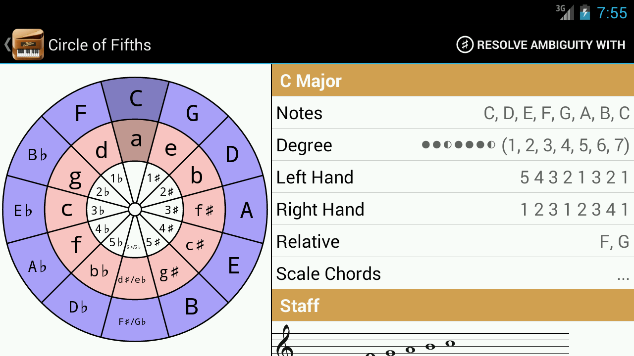 Piano Companion LITE:Chords - screenshot