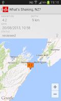 Screenshot of What's Shaking, NZ?
