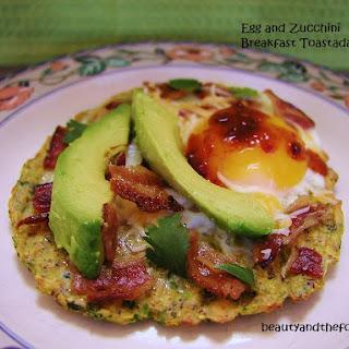 Egg and Zucchini Breakfast Toastadas