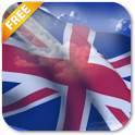 3D UK Flag icon