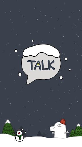 Winter Story - KakaoTalk Theme 7.0.0 screenshots 1