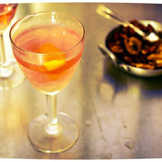 Cosmopolitans and Roasted Nuts with Rosemary.