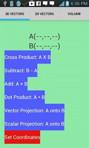Vectors Calculator
