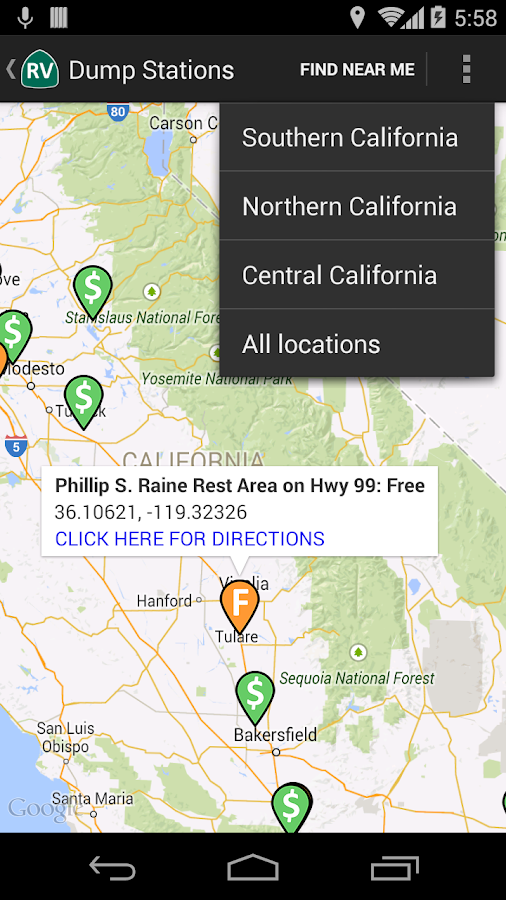 California Rv Locations Android Apps On Google Play