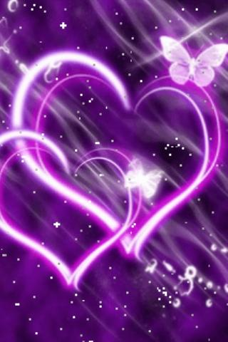 Hearts Purple Butterfly - screenshot