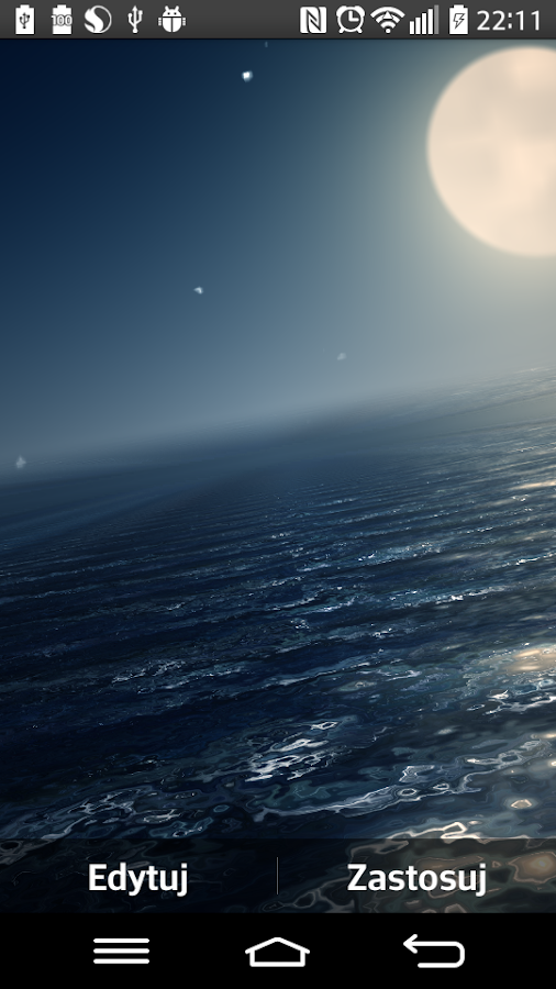 Ocean At Night Live Wallpaper- screenshot