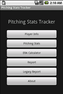 Youth Baseball Pitching Stats - screenshot thumbnail
