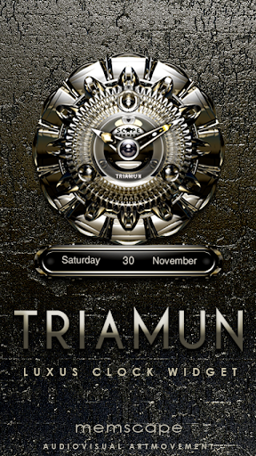 TRIAMUN Luxury Clock Widget