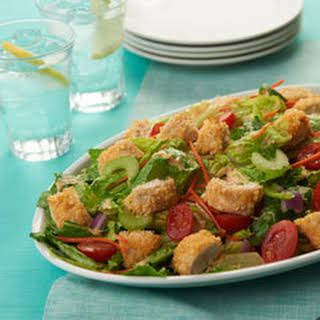 Crispy Buffalo Ranch Chicken Salad.