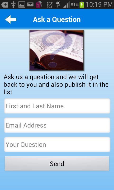 Bible Questions & Answers FAQ- screenshot