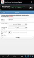 Screenshot of Gasolineras Baratas en España