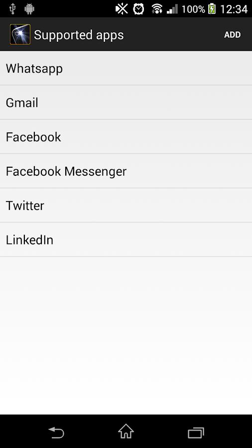 Flash alerts - screenshot