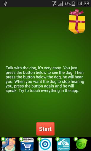Christmas Talking Dog