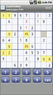 Count To Nine Sudoku - screenshot thumbnail