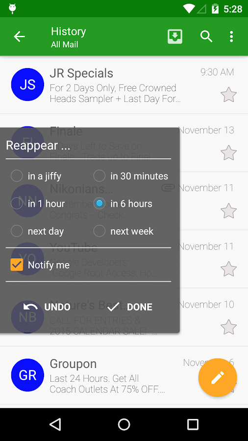 Compail - email app- screenshot