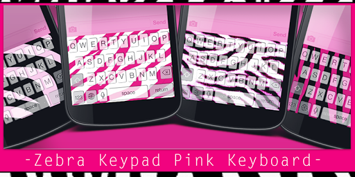 Zebra Keypad Pink Keyboard
