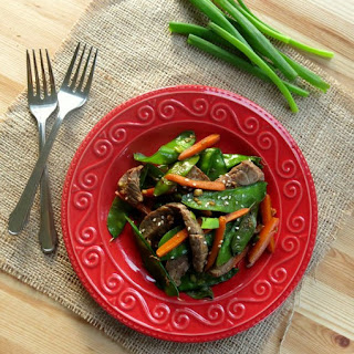 Sesame Beef Strips and Stir-Fry Vegetables for #Weekday Supper.