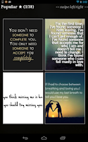 "Screenshot of Love Quotes"" Pro"