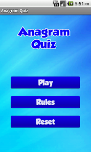 Anagram Quiz