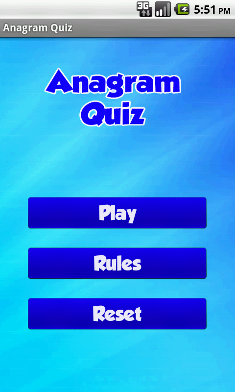 Anagram Quiz- screenshot