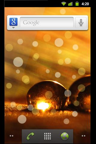Golden Dreams Live Wallpaper- screenshot