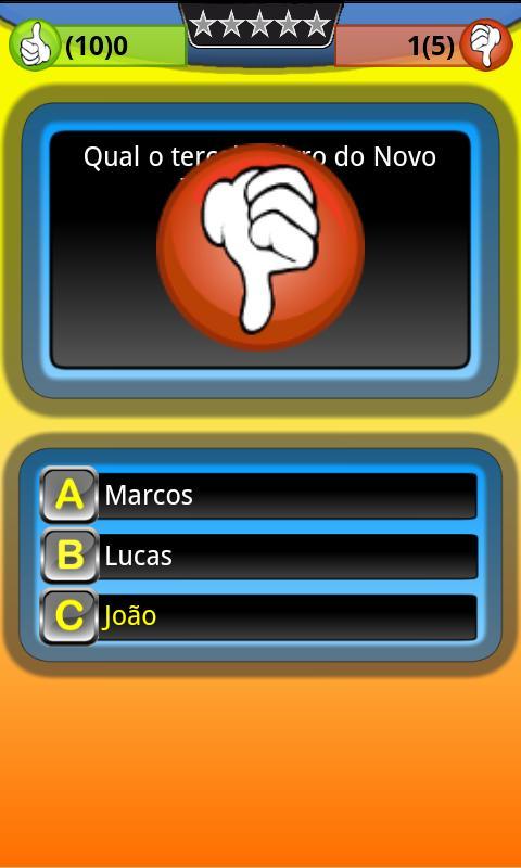 Jogo Trivia Quiz Bíblia Grátis- screenshot