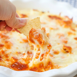 Sriracha Buffalo Chicken Cheese Dip.