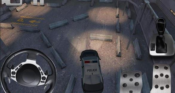 警車停車3D高清