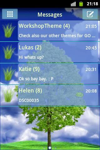 GO SMS PRO Theme Tree