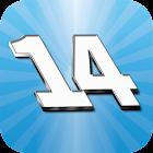 Fourteen premium icon