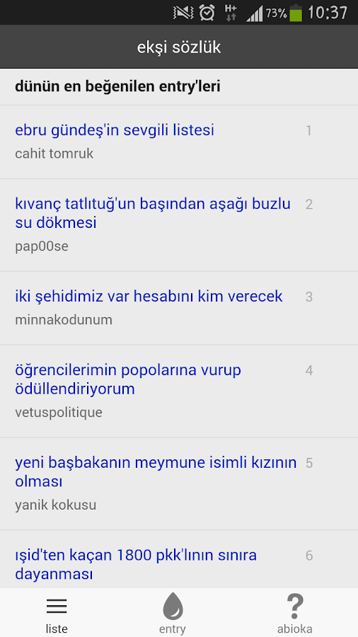 ekşi debe- screenshot