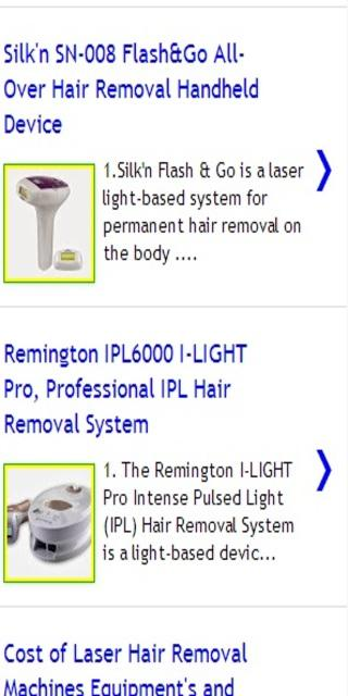 Permanent hair removal - screenshot