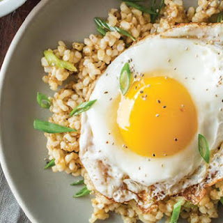 Sticky Chia Brown Rice with Fried Egg.