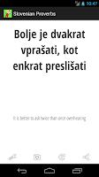 Screenshot of Slovenian Proverbs