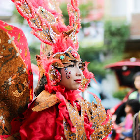 Batik Carnival in Red  by Dayan Ramly - Novices Only Portraits & People