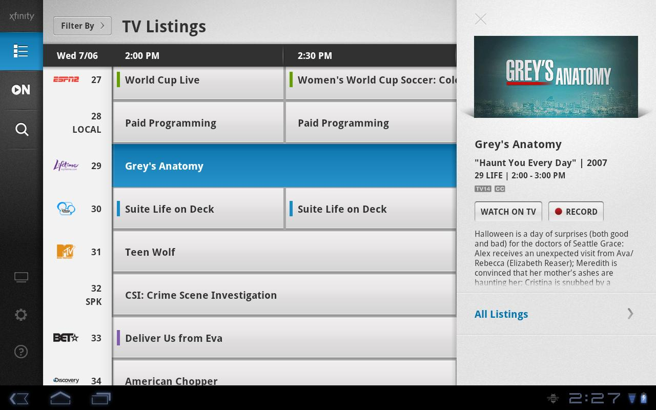 XFINITY TV Remote - screenshot