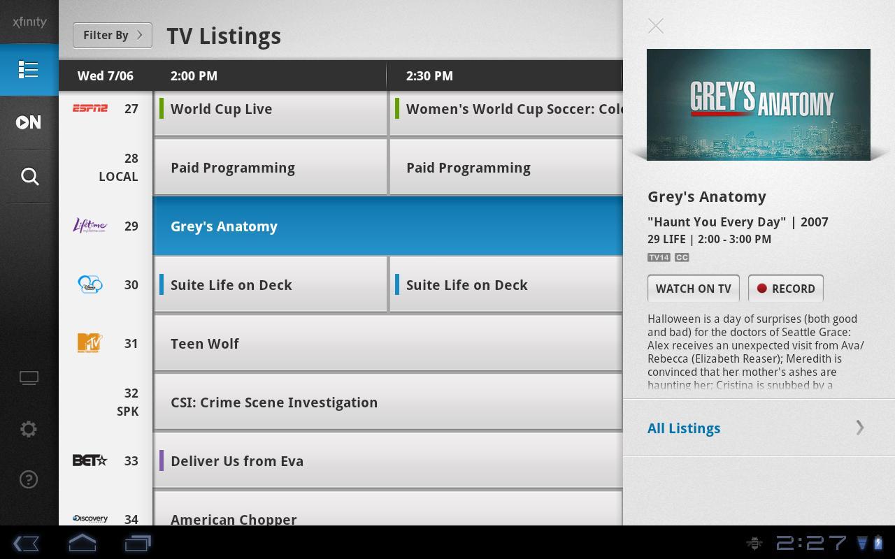 XFINITY TV Remote - screenshot