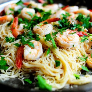 Shrimp Scampi With Vegetables Recipes.