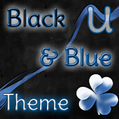 GO Launcher Theme Black & Blue